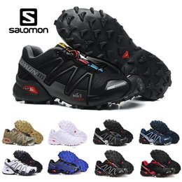 pink crosses Promo Codes - 2019 Salomon Speed cross 3 CS III Running shoes Black Silver red Pink blue men Outdoor SpeedCross 3s Hiking mens sports sneakers 40-46