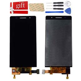 tela huawei p6 Desconto Para Huawei Ascend P6 Tela LCD P6S P6-U06 C00 T00 S-U06 LCD Screen Display Touch Screen Assembly digitador