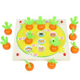 Brinquedos correspondentes para crianças on-line-Nova Memória De Madeira Jogo Engraçado Jogo De Xadrez De Madeira Rabanete Montessori Brinquedo Educacional Bloco de Brinquedo de Presente de Aniversário para Crianças Jogo Casual