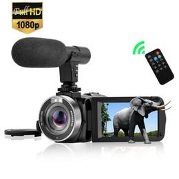2019 telecamere a zoom lungo Display della fotocamera 1pcs Hot DV888 HD Digital Teleobiettivo fotocamera 3 pollici touch con microfono Reporter video di nozze Viaggi Regali essenziali