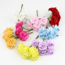 Decoraciones de coches de boda flores artificiales online-72pcs / lot 3 cm seda artificial Estambre Bud ramo de flores para la boda del jardín de coches Inicio del ramillete de artesanías de decoración plantas artificiales