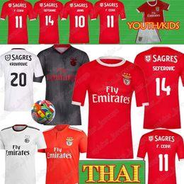 jersey de futebol jones Desconto Benfica Futebol Thai 2019 JOÃO FÉLIX Football Shirt GRIMALDO RUBEN DIAS 19 20 PIZZI RAFA JONES Seferovic Men + Crianças