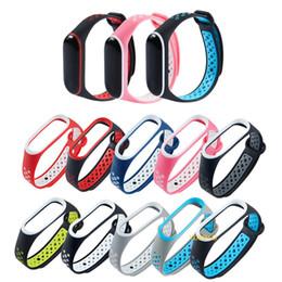 Accesorios reloj de pulsera online-Nuevo Brazalete para Xiaomi Mi Band 3 Correa deportiva reloj Correa de muñeca de silicona Para xiaomi mi band 3 accesorios pulsera Correa