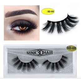 Canada 20 style 3d Mink cheveux faux cils 100% épais vrais visons CHEVEUX faux cils naturel Extension faux cils DHL livraison gratuite Offre