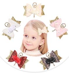 Handgemachte prinzessin haarclips online-NEUE Ballett Mädchen Haarschmuck für Mädchen Kinder Prinzessin Glitter Hair Bows Clips Handmade Haarnadeln Cute Kids Kopfschmuck