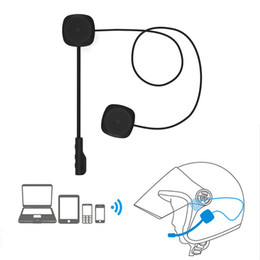motorcycle helmets microphones Promo Codes - MH04 Wireless Bluetooth Headphone HIFI BT 5.0+EDR Motorcycle Helmet Earphone Stereo Speaker Handsfree Headset Microphone Safe Riding Earbuds