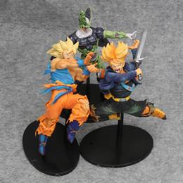2019 dragão bola z célula ação figuras Dragon Ball Z BWFC Super Saiyajin 3 Son Goku troncos Freyza célula Freeza Dragonball Trunks Lazuli PVC Figura de Ação Coliseu Brinquedo Y190529 dragão bola z célula ação figuras barato