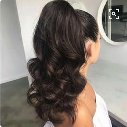 cola de caballo pelo brasileño onda del cuerpo Rebajas Body Wave Ponytail 100% cabello humano cordón cordón de cola de caballo piezas con clips en para las mujeres brasileñas no remy de pelo 1 pieza 160g