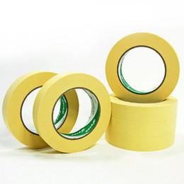 C automotriz online-50M resistente de alta temperatura 120 ° C pintura de aerosol Masking Tape Automotive Refinish Performance Yellow Masking Tape Protect