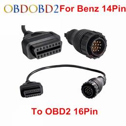 fvdi full Скидка Для MB 14 Pin к OBD2 16 Pin кабель автомобиля диагностический разъем Sprinter для MB 14pin Для 16Pin OBD OBDII адаптер