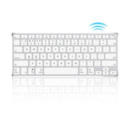 drahtlose tastatur metall Rabatt Ajazz AK3.1 ultradünne 78 Tasten Mini Wireless Keyboard BT Tastaturen Ergonomische Metalltastatur für Telefon Tablet Laptop
