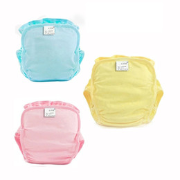 cloth diaper inserts cotton Promo Codes - Baby Bamboo Waterproof Diapers for Newborns Nappies with Insert Fraldas Para Bebes Washable Cotton Baby Reusable Cloth Diapers