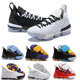james shoes white black Promo Codes - 2019 new mens 16s equality basketball shoes chaussure de basket ball james sneakers watch the W throne king oreo new-le&bron 16 equality