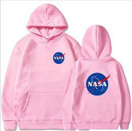 Grosse hanche noire en Ligne-Marque Big Nasa Print Sweatshirts Hommes Femmes Pull Hip Hop Sweats à capuche Pulls Streetwear Noir pull-over rouge chemises