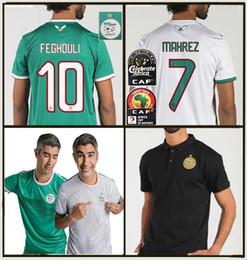 marca de uniformes de futbol Rebajas 2019 Argelia JERSEYS DE FÚTBOL HOGAR LEJOS AFCON MAHREZ BRAHIMI BOUNEDJAH BOUAZZA 19 20 CAMISAS DE FÚTBOL DE JERSEY DE JERSEY