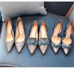 Chaussures à paillettes métalliques en Ligne-Metallic Extreme High Heels Pumps pour les femmes grosses paillettes marine robe robe printemps Printemps Automne paillettes femme à talons hauts OL unique chaussures de mariée