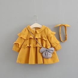 Vestido solto da edição feminina das mulheres on-line-2018 Vestido Real Infantil Infantil Vestido Do Bebê A Primavera De 2019 New Children's Han Edição Moda Loose Princesa Mulher Bolos