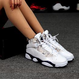tecido de fibra de carbono azul Desconto 2019 sapatos novos 6 geração de basquete resistente ao desgaste antiderrapante botas de alta para ajudar couro respirável tênis transporte livre