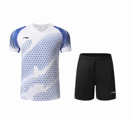 li ning badminton Promo Codes - New 2020 Li-Ning badminton wear t-shirts men women clothes,polyeater breathable table tennis jersey short sleeve T-shirt,tennis shirt