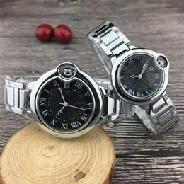 las mejores marcas de relojes de pulsera para hombre. Rebajas Lujo clásico Pareja marca mujeres hombres relojes Moda acero inoxidable oro cuarzo reloj de pulsera clásico para damas para hombre el mejor regalo de San Valentín
