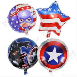 Suministros para la fiesta de los vengadores online-18 pulgadas los Vengadores de Marvel globos juguetes inflables Globos cumpleaños fuentes de las decoraciones de burbujas de helio globo de la hoja