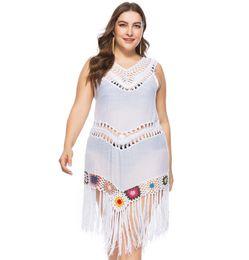 49b6568c9f Sarongs For Beach Cover Up Tunics Wear Women s Plus Size Summer Long Dress  Tunic 2018 New Fat Big Yards Lace Lengthening