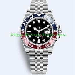 2018 Basel World Luxury New GMT II Movimento Automático De Aço Inoxidável Mergulho Basel 40 MM 116710 116710BLNR 126715CHNR Mens Watch Relógios de