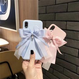 Argentina Deft diseño encaje perla arco estilo teléfono celular casos piel textura teléfono casos tres colores opcionales envío gratis Suministro