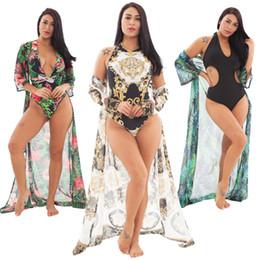 Bikini a pezzi poco costosi online-2019 Donne Costumi da bagno un pezzo bikini sexy cappotto stile Halter costume da bagno due pezzi costume da bagno bikini Beach costume da bagno a buon mercato e fine