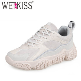 d4cb8f7ca7a2 flat girl platform shoes Promo Codes - wetkiss Woman Clunky Casual Flats  Round Toe Footwear Sneakers