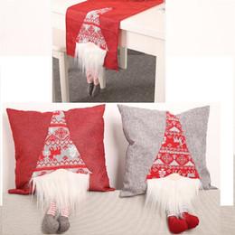 2019 tisch-overlays für hochzeiten Weihnachten zu Hause Dekoration Sofa Car Kissenbezug 3D Puppe Beine Neujahr Tischset Tischläufer Tuch-Abdeckung Hauptdekor Stuhl Pillowcase