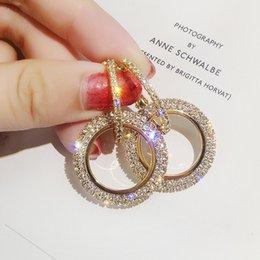 Canada Nouveau design créatif bijoux haute qualité élégant cristal boucles d'oreilles rondes boucles d'oreilles or et argent noce boucles d'oreilles pour femme cheap earrings for women gold designs Offre