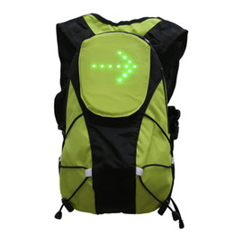 Unisex Led Remote Control Warning Outdoor Backpack Waterproof Safety Cycling Turn Signal Travel Bag Wireless от