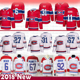 4081d458f 31 camisetas de hockey Carey Price Montreal Canadiens 6 Shea Weber 67 Max  Pacioretty 27 Alex Galchenyuk 92 Jonathan Drouin 11 Brendan Gallagher  montreal 67 ...