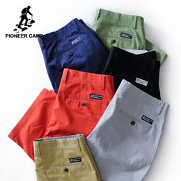 Junta directiva del campamento online-Pioneer camp nuevos hombres del verano ropa de marca sólido bermudas masculina de calidad superior del estiramiento Slim Fit pantalones cortos de la junta 655117 J190506