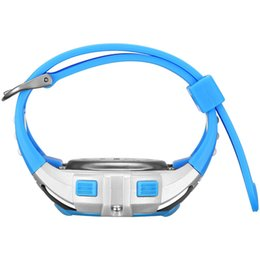 Hot 1 Pcs Bambini Studente Studente Orologio elettronico digitale Impermeabile quadrante rotondo con cinturino regolabile MSK66 da