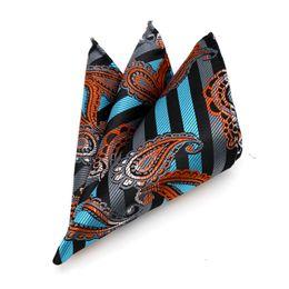 100% soie mouchoir Hanky Man Paisley Floral Jacquard Pocket Square 25 * 25 cm pour les hommes d'affaires normal ? partir de fabricateur