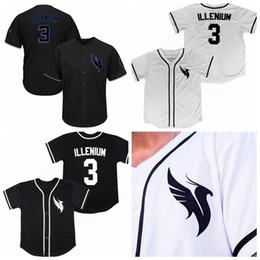 2019 camisas feitas sob encomenda dos jérseis de basebol Custom ILLENIUM Jersey Homens Mulheres Juventude Criança Branco Preto Costurado Qualquer Nome Qualquer Número Camisolas De Beisebol camisas feitas sob encomenda dos jérseis de basebol barato