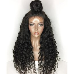 deep wave 14 inch wig Coupons - Glueless Lace Front Virgin Human Hair Wigs Pre-Plucked Full Lace Wigs Deep Wave 10-26 inch African American Wigs
