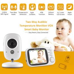 Câmera de monitoramento de escritório on-line-Moda de Nova Visão Noturna Câmera Sem Fio LCD Seguro Baby Monitor Home Office Moda New Baby Segurança Saúde
