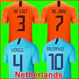 2019 2020 нидерландский футбольный трикотаж 18 19 20 DE JONG футболка из Голландии DE LIGT VAN DIJK VIRGIL MEMPHIS PROMES форма трикотажных изделий cheap netherlands holland soccer jersey от Поставщики нидерланды футбол голландский футбол джерси