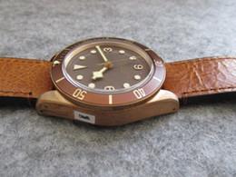 2019 vero ottone 43mm Real Bronze Case invecchiato automatico 2824 Free Nato Strap Bay 79250BB XF Best Edition V4 orologio da uomo orologio da polso in vetro zaffiro sconti vero ottone
