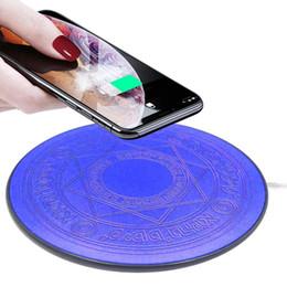 pad de chargement sans fil 5v Promotion Magic Array 10W Led Chargeur Sans Fil Chargeur Rapide Pad De Charge pour iPhone X XS Chargeur Samsung S9 S10 Huawei P20 Mate 20