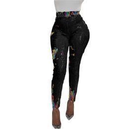 2019 leggings meilleure couleur Pantalon à paillettes de couleur sexy de boîte de nuit Legging à paillettes le plus vendu promotion leggings meilleure couleur