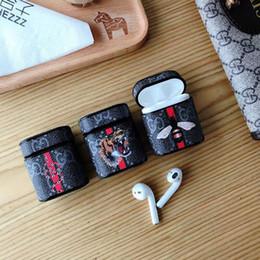 2019 bolsa de design Caso de fone de ouvido durável abelha tigre padrão anti-knock protetora para iphone airpod case design popular bolsa de fone de ouvido para caixa de ar pod desconto bolsa de design