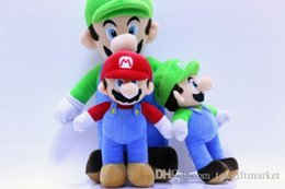 baby mario bros toys Promo Codes - 2 Style 25-40CM MARIO & LUIGI Super Mario Bros Plush Doll Stuffed Toys For Baby Good Gifts