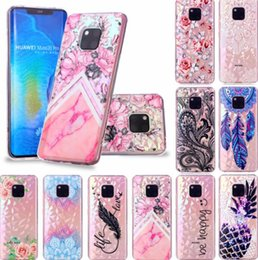 2019 caso xiaomi tpu Lujo suave TPU Case para Xiaomi Redmi Note 6 Pro 5 Plus 6 6A Floral Pineapple Bling Diamond mármol diseñador Dreamcatcher flor cubierta de encaje rebajas caso xiaomi tpu