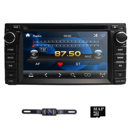 Dvd toyota hilux online-Auto-CD-DVD-Player für Toyota Corolla Auris Fortuner RAV4 Prado Hilux Vitz GPS-Navigation Mirror Link DAB