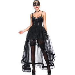 victorian corset xl Rebajas Vestido vintage de mujer Steampunk Corset Victorian Retro Gothic Corset Burlesque Lace and Bustiers Falda irregular larga Conjunto