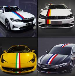 2019 graphiques de voiture 3d Autocollants voiture Decal JDM Racing Allemagne Italie France capot de voiture de bande drapeau autocollant corps drôle vinyle autocollant pour BMW Benz pour Volkswagen